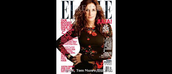 Julia Roberts sur une des couvertures du magazine ELLE US du mois de septembre 2010.