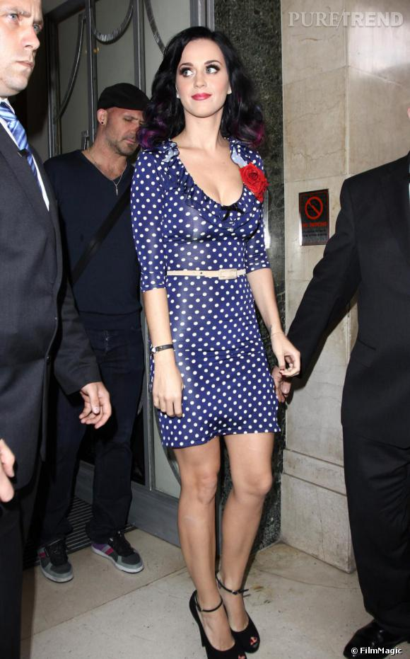 Katy Perry à Londres pour la promotion de Teenage Dream.