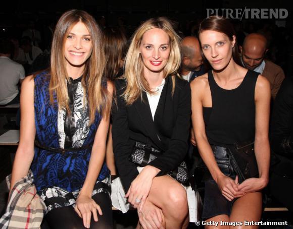Elisa Sednaoui, Laura Santo Domingo et Vanessa Traina au premier rang Proenza Schouler.