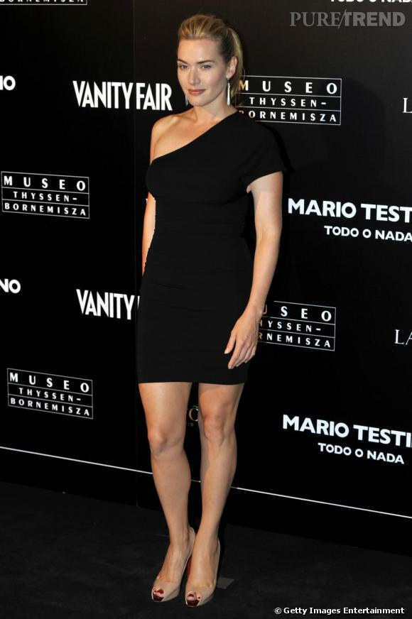 Kate Winslet à l'exposition Todo o Nada par Vanity Fair et Mario Testino à Madrid.