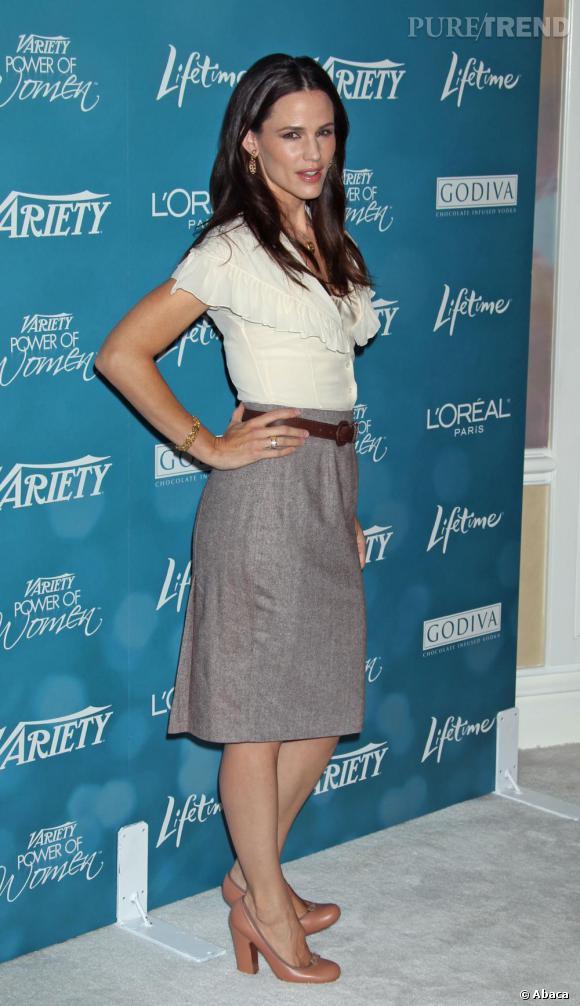 Jennifer Garner allie deux styles différents qui vont parfaitement ensemble.