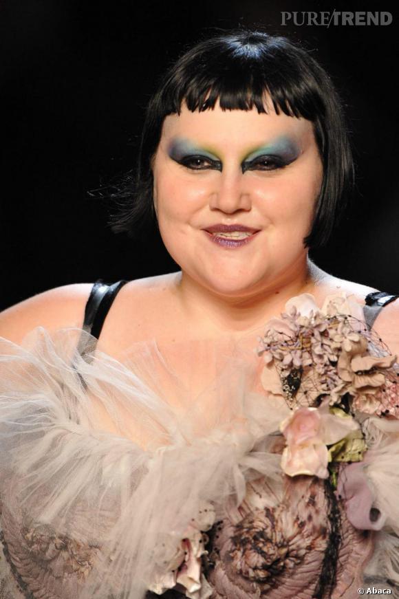 Maquillage caméléon pour Beth Ditto.