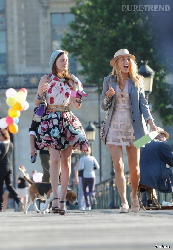 Deux Gossip Girls à Paris.