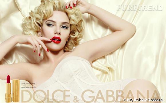 Scarlett Johansson joue les Marilyn pour Dolce & Gabbana.