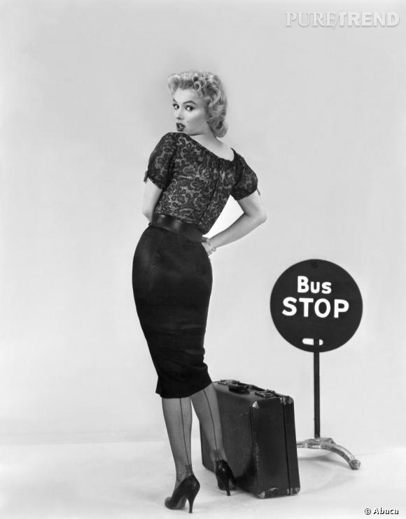 Marilyn dans une publicité Bus Stop de 1956.