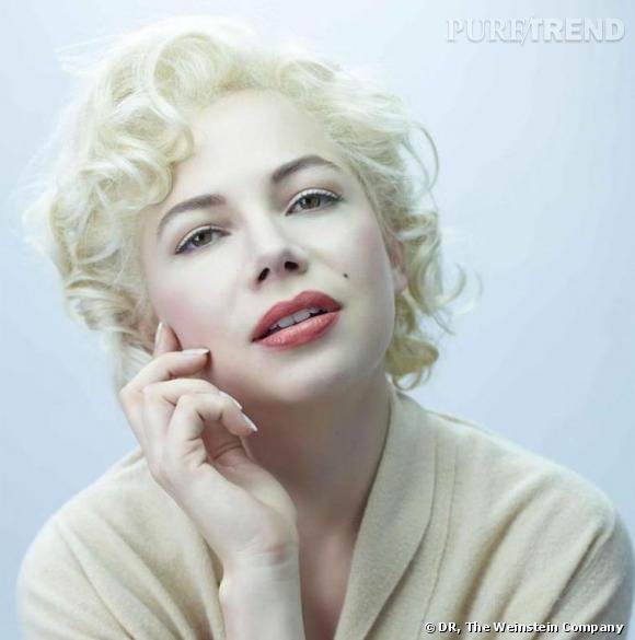 Michelle Williams dans la peau de Marilyn pour le film  My Week With Marilyn .