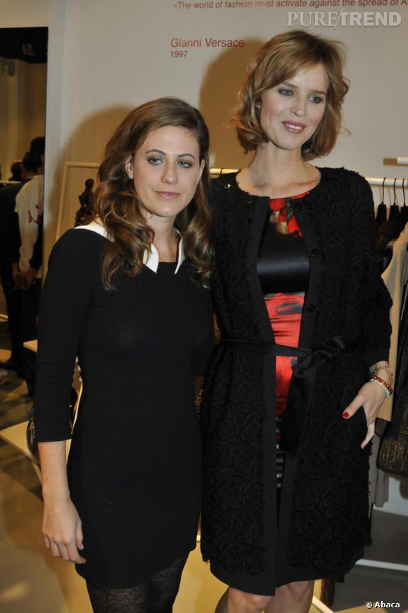 Eva Herzigova aux côtés de Francesca Versace.