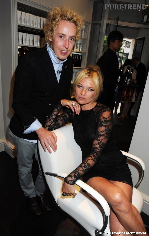 Kate Moss et son coiffeur, James Brown.