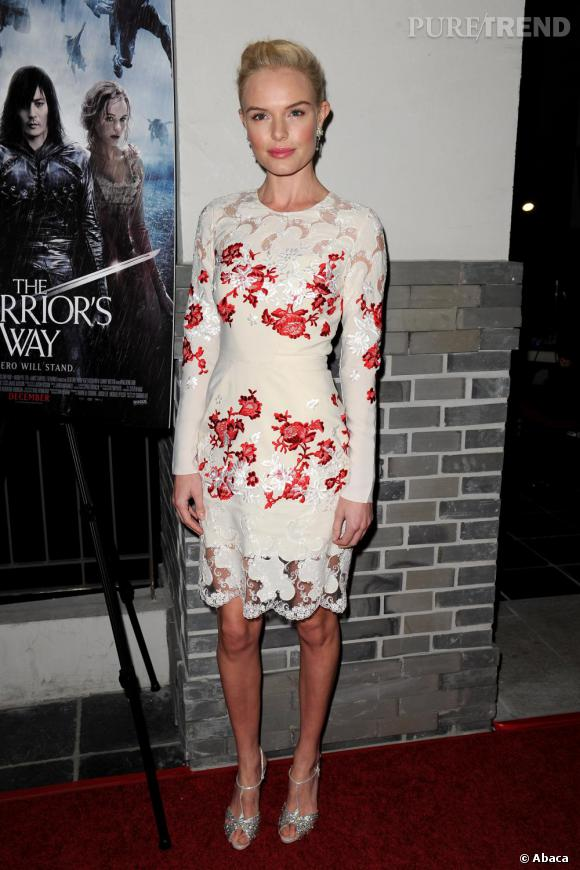 "Kate Bosworth porte une robe Erdem Printemps 2011 à la projection de ""Warrior's Way"" à Los Angeles."