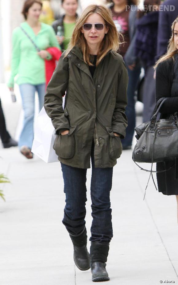 Calista Flockhart dans les rues de Beverly Hills.