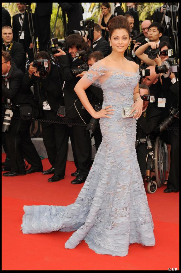 Aishwarya Rai en Elie Saab, Cannes 2010.