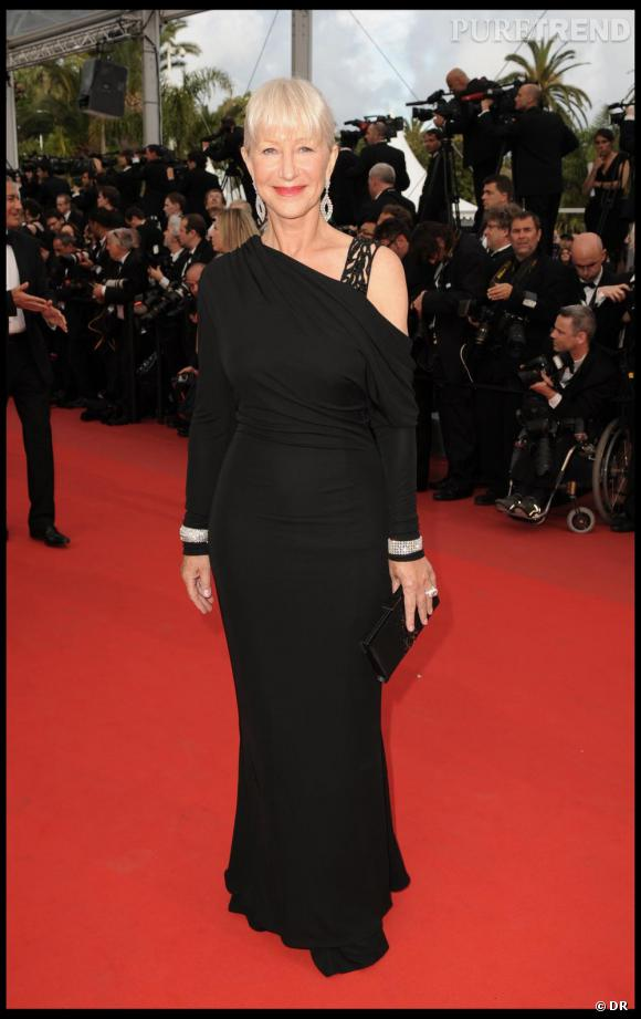 Helen Mirren en Elie Saab, Cannes 2010.