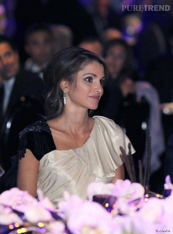 La reine Rania lors du gala de la Fondation Jordan River en Jordanie.