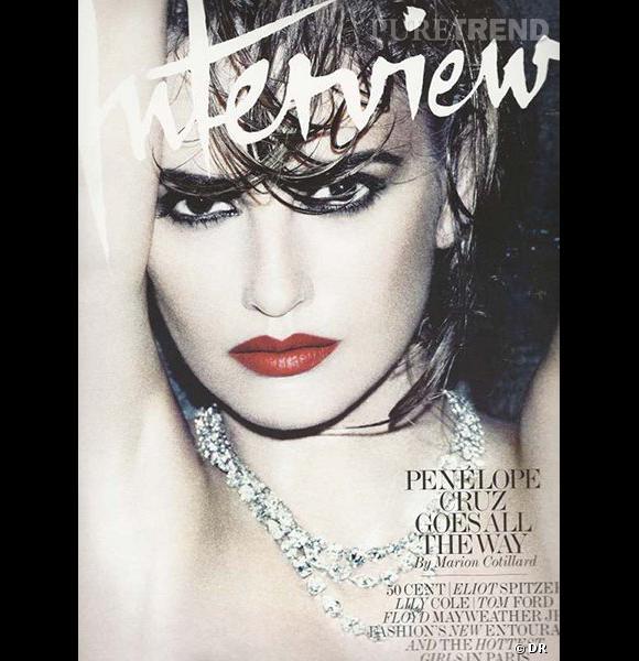 Penelope Cruz, sensuelle pour sa couverture de magazine.
