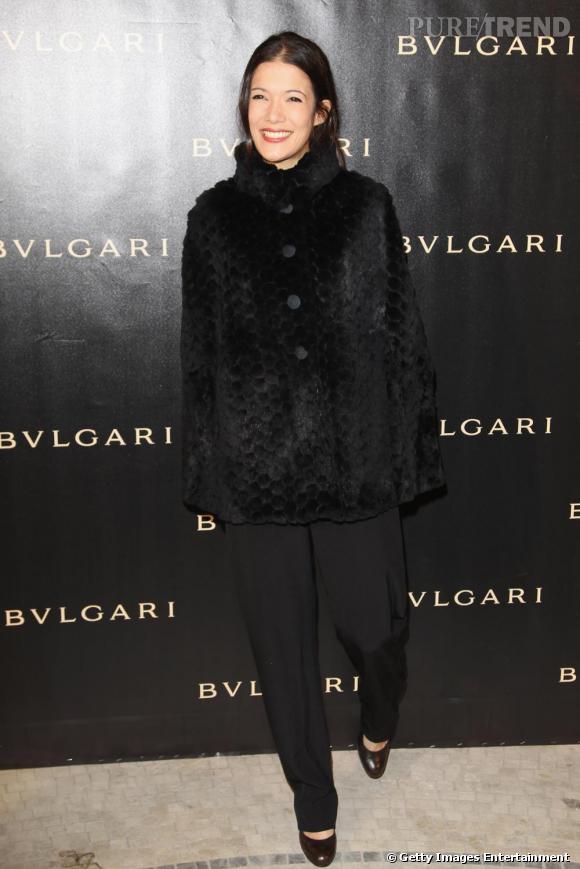 Mélanie Doutey, invitée à la soirée Bulgari au Grand Palais.