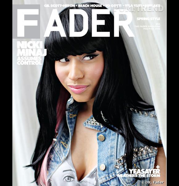 Nicki Minaj étonnamment sobre en couverture du magazine Fader.