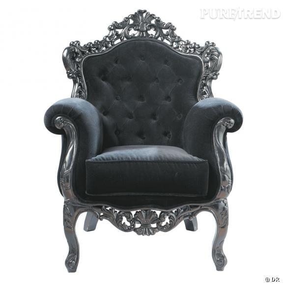 Fauteuil Maison du Monde Un trône baroque à la maison, pour jouer