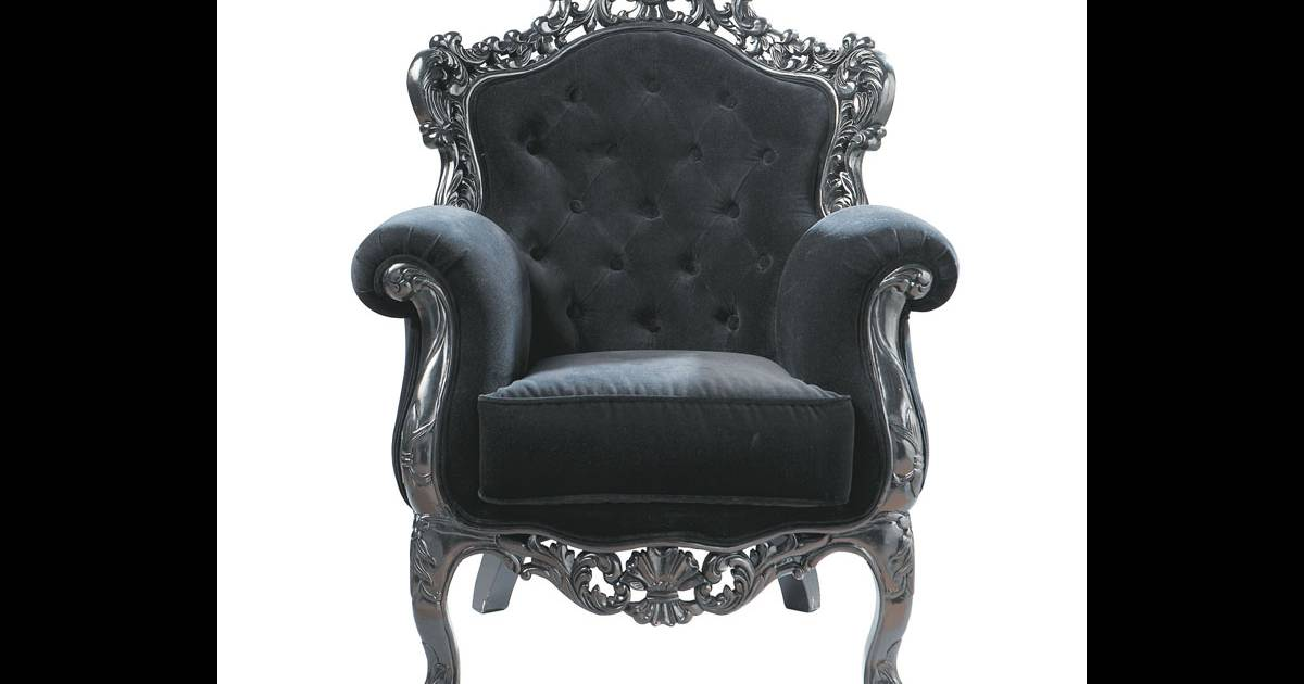fauteuil maison du monde un tr ne baroque la maison pour jouer les reines du living room prix. Black Bedroom Furniture Sets. Home Design Ideas