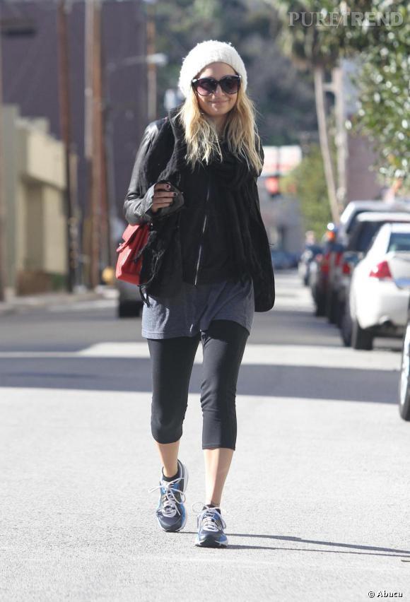 Nicole Richie sortant de sa salle de sport favorite à Los Angeles.