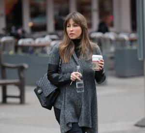 Rachel Stevens dans les rues de Londres.
