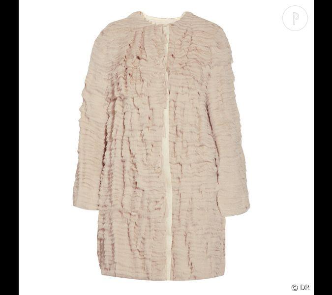 manteau 3 1 phillip lim un manteau en cr pe de soie rose. Black Bedroom Furniture Sets. Home Design Ideas
