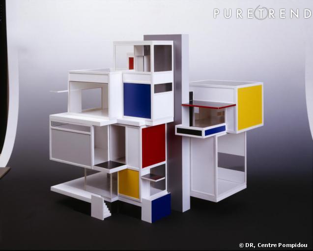 Mondrian et de stijl theo van doesburg et cornelis van esteren reconstitution de la maquette - Stijl des maisons ...