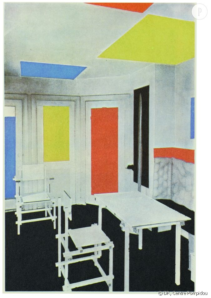 mondrian et de stijl theo van doesburg et gerrit rietveld int rieur de la maison bart de ligt. Black Bedroom Furniture Sets. Home Design Ideas
