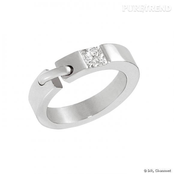 Super Bague Liens de Chaumet Bague en or gris serti diamant. Prix sur  LN61