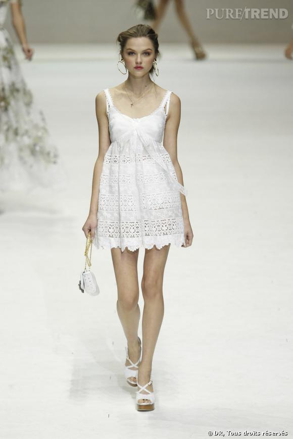 Défilé Dolce & Gabbana printemps-été 2011.