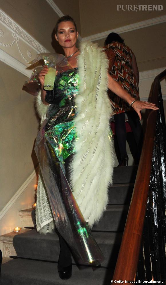 Kate Moss à la soirée des 10 ans du magazine Another à Londres.
