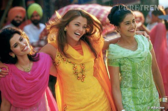 """Aishwarya Rai dans le film """"Coup de foudre à Bollywood""""."""