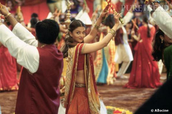 """Une scène du film """"Coup de foudre à Bollywood"""" avec Aishwarya Rai."""