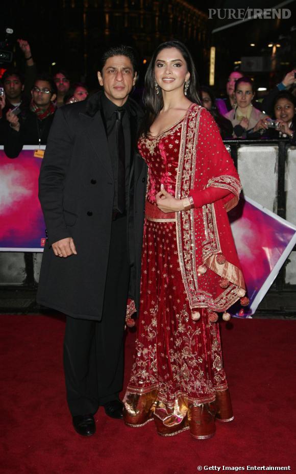 """Shah Rukh Khan et  Deepika Padukone : deux icônes du cinéma indien, acteurs dans le film """"Om Shanti Om""""."""