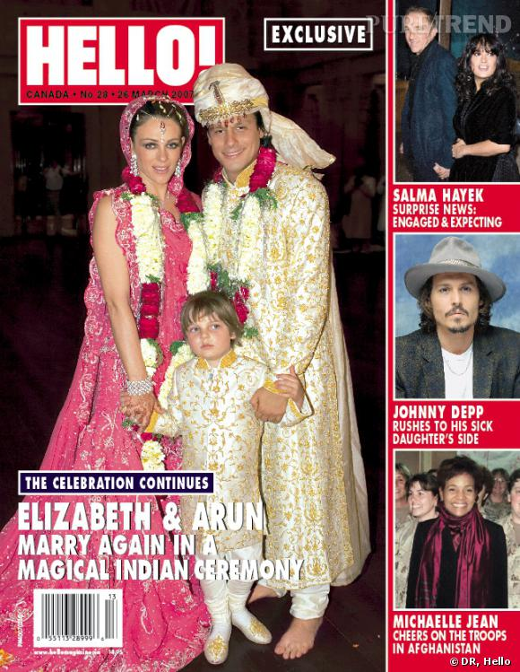 Le mariage d'Elizabeth Hurley passe du kitch au cheap.