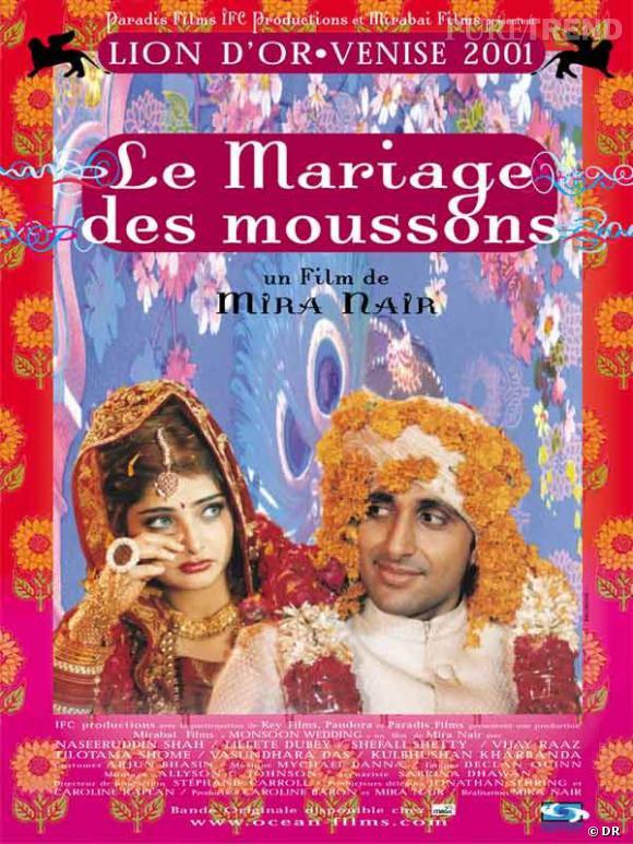 """L'affiche du film """"Le Mariage des Moussons"""", un des film les plus célèbres du genre bollywoodien."""