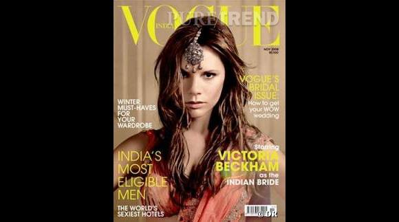 Victoria Beckham pose pour le magazine Vogue, un numéro spécial Bollywood.