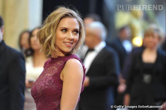 Scarlett Johansson invitée à la cérémonie des Oscars, à Los Angeles.