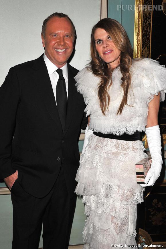 La rédactrice et le créateur Michael Kors, star de la soirée.