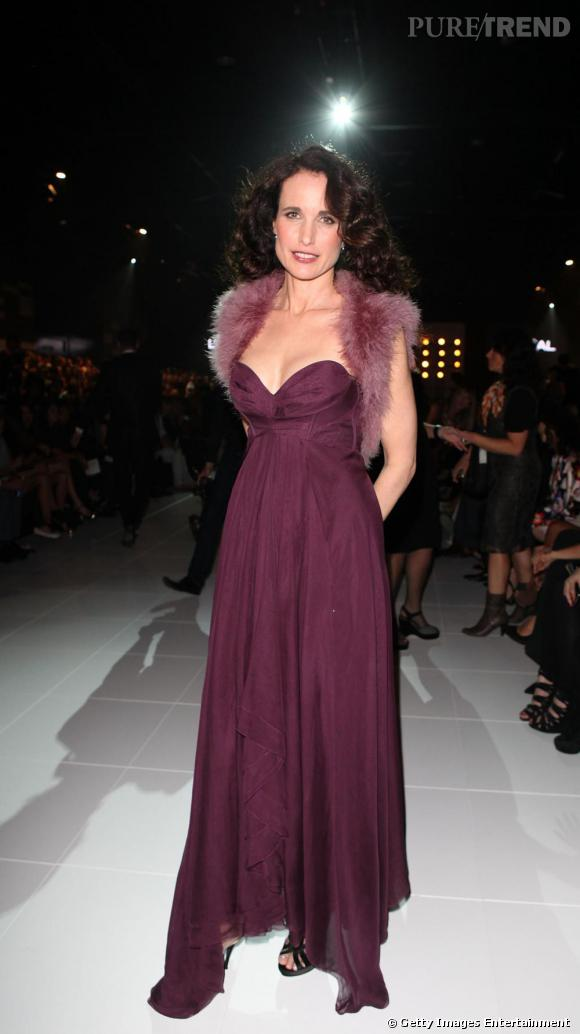 Andie MacDowell lors du Fashion Festival L'Oréal 2011 de Melbourne.