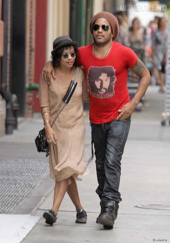 Les Kravitz père et fille dans les rues de Soho.