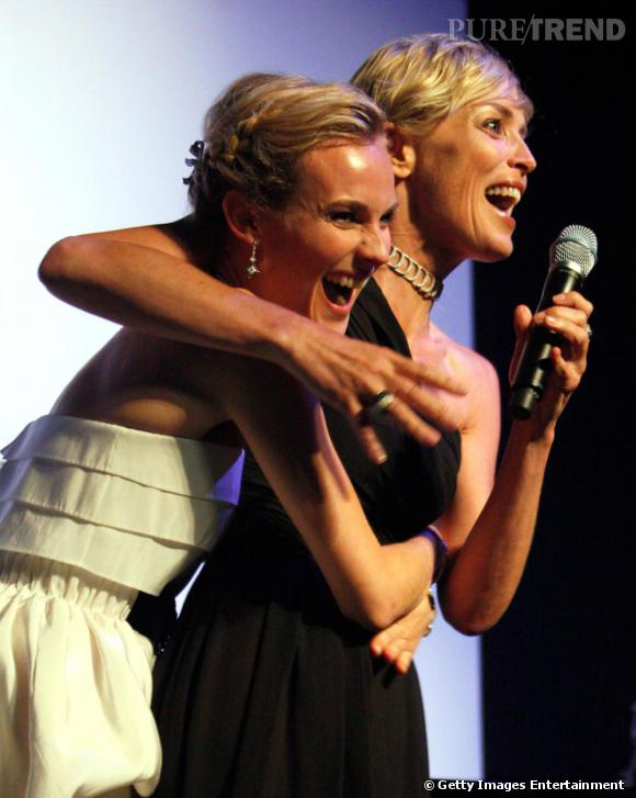 Diane Kruger et Sharon Stone, deux emblèmes du cinéma.
