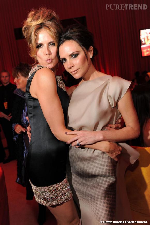 Heidi Klum, toujours très proche de Victoria Beckham.