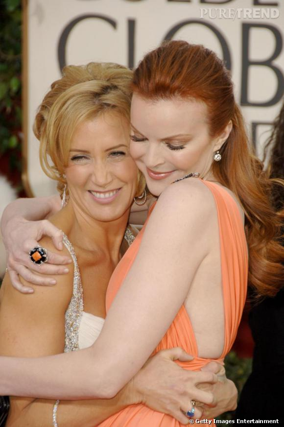 Les deux Desperate Housewives, Felicity Huffman et Marcia Cross ultra complices.