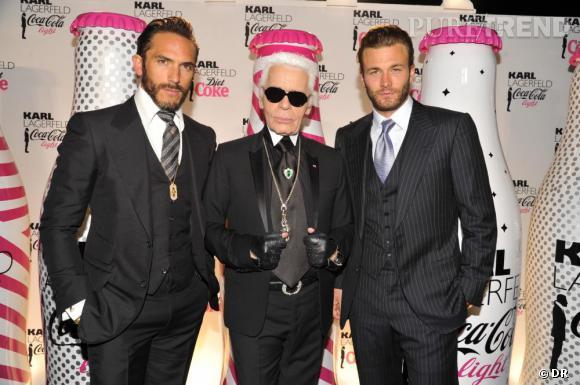 Karl Lagerfeld et sa team, Brad Koenig et Sebastien Jondeau.