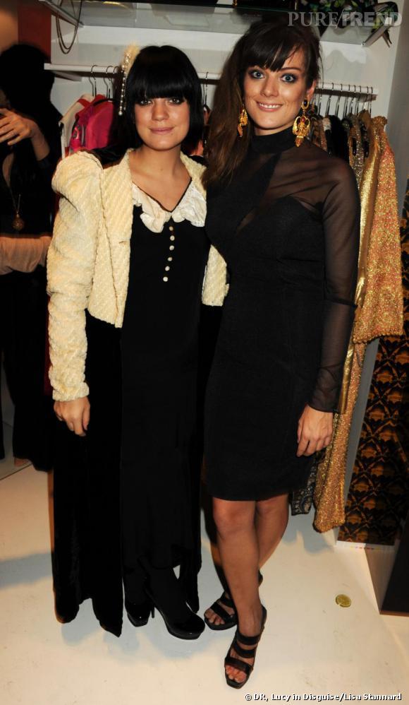 Lily Allen et sa demi-soeur Sarah Owen à l'ouverture de Lucy in Disguise.