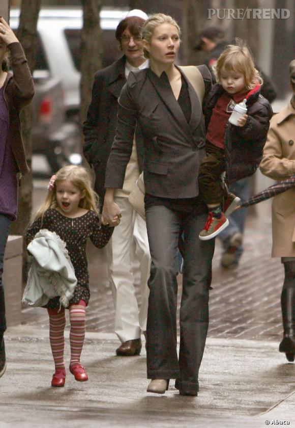 Gwyneth, c'est aussi  : une maman de deux enfants. Dont un qui s'appelle Apple ! Y a-t-il du sponsoring dans l'air ?