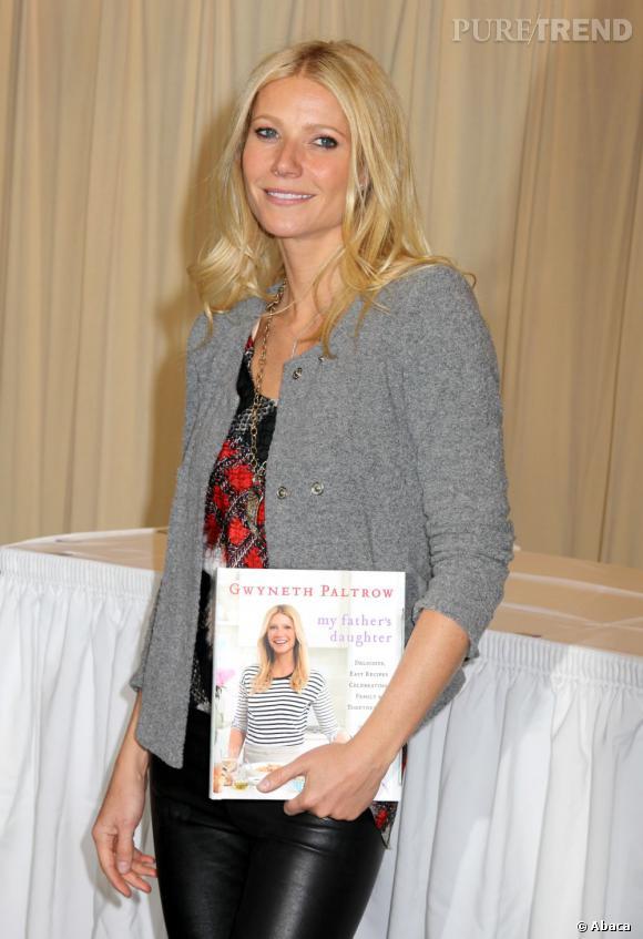 Gwyneth, c'est aussi :  l'auteure d'un livre de cuisine pour les nulles (comme vous et moi ?) qui se contentent exclusivement de pâtes le soir.