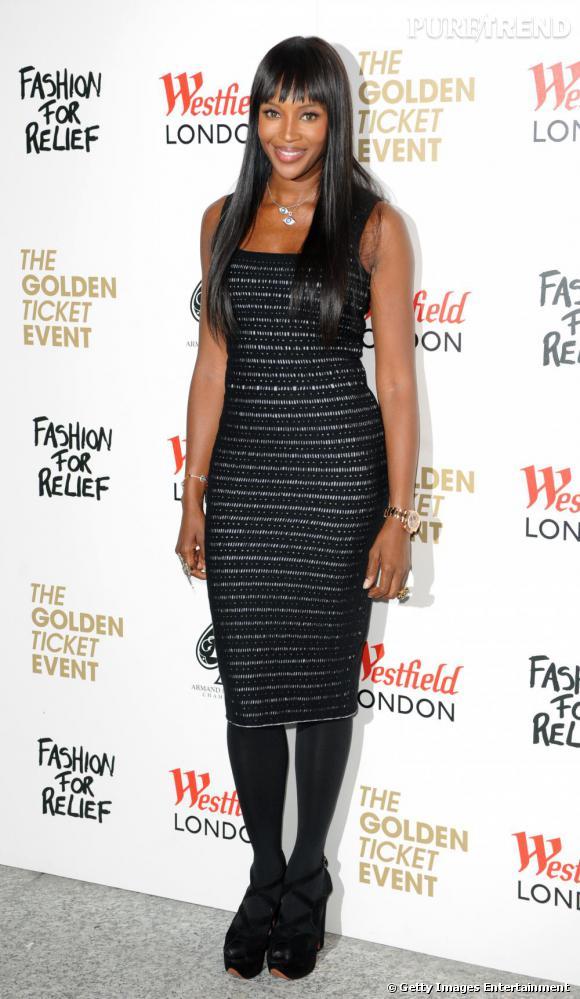 Naomi Campbell a créé, en 2005, l'association Fashion for Relief pour venir en aide aux sinistrés de l'ouragan Katrina. Ici, lors de l'inauguration d'une boutique éphèmère à New York, en avril 2011.