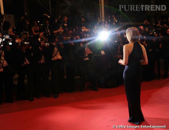 Jodie Foster sous les flashs.