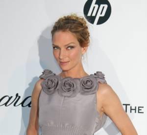 amfAR 2011 : Uma Thurman, le gris glamour